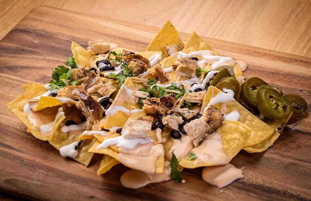 Chido, Burrito, Chicken, Nachos, Queso, EV
